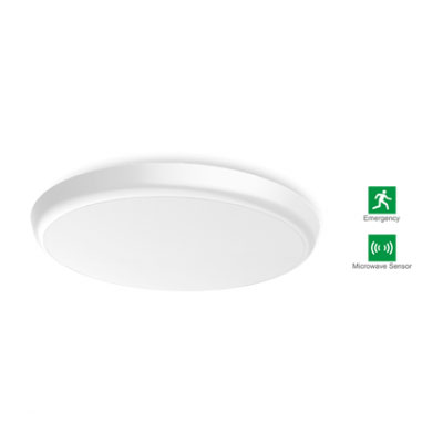 LED 2D Ceiling Light 18W (With Both Emergency And Microwave)